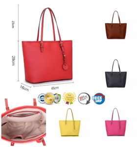 Women/'s Large Size Designer Style PU Leather Tote Shopper Hand Bag Ladies Long