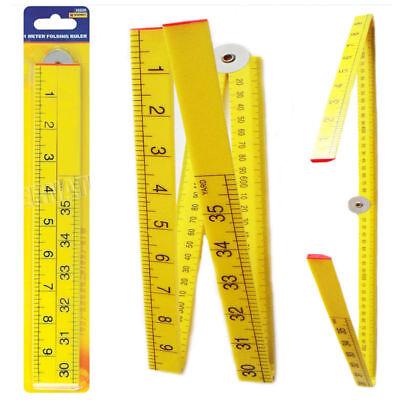 1 M 1000 mm YARD STICK règle en plastique mesure 1Mtr 3 FT 4 Pièce Pliable Règle environ 0.91 m