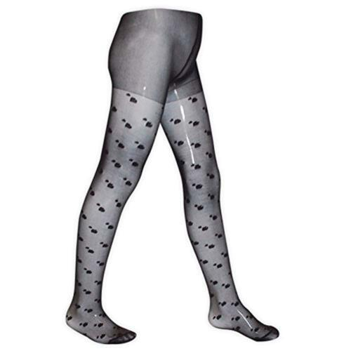 Black and Pink Cream White Girls Heart Patterned Fashion Tights