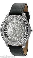 Peugeot Women's Couture Black Leather Baguette Case Watch J6013BK