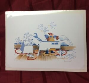 "/""Fire Drill/"" Rie Munoz PENCIL SIGNED LIMITED EDITION Print"