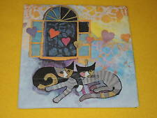 4 stück Servietten Katzen FLYING HEARTS  Rosina Wachtmeister Kunst 1/4  Herz