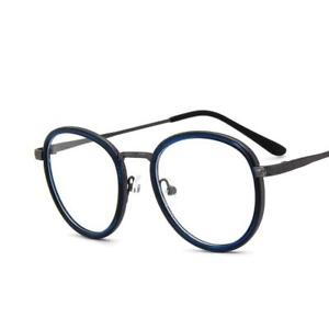 853584839ae Image is loading Classic-Round-Metal-Vintage-Men-Women-Optical-EYEGLASSES-