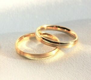 Details About Couple Rings Gold 9ct Gold Wedding Rings Men Women Wedding Rings Men Ring