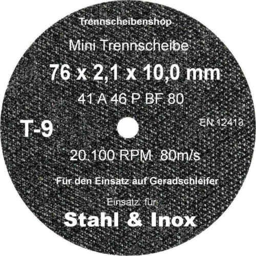 10 x Sonnenflex mini kleine Trennscheiben 76 x 2,1 x 10 mm Inox Edelstahl Stahl