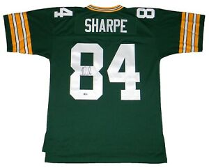 STERLING SHARPE SIGNED GREEN BAY PACKERS #84 MITCHELL & NESS ...