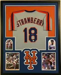 new styles 6564c bd076 Details about FRAMED N.Y. METS DARRYL STRAWBERRY AUTOGRAPHED SIGNED JERSEY  JSA COA