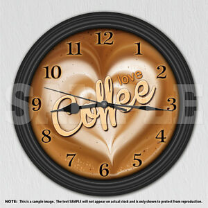 Coffee Love Decorative Wall Clock Kitchen Decor Ebay