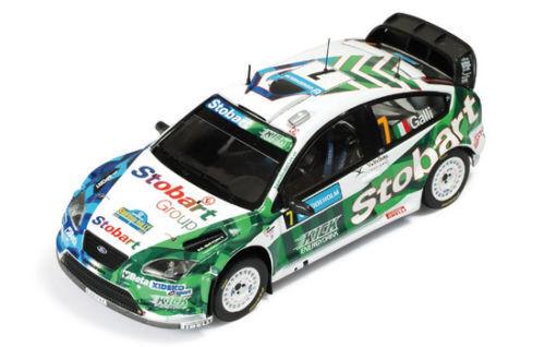 IXO RAM316, FORD FOCUS RS 07 STOBART, WRC SWEDEN 2008, GALLI, 1 43 SCALE