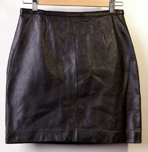 MIXIT-Real-Leather-Skirt-Womens-Black-Size-6