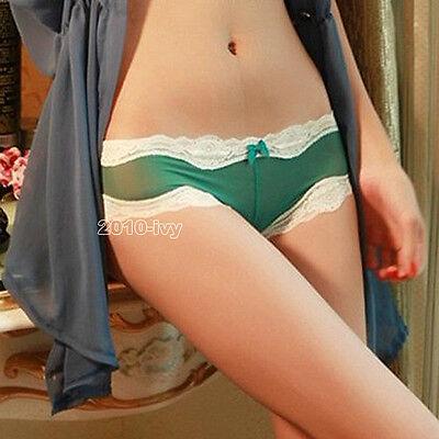Sexy Women's Knickers Chiffon Gauze Underwear Crotch Thongs V-string Panties