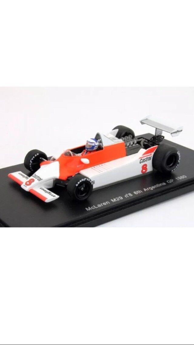 McLaren M 29 n8 6th Argentine GP 1980 ALAIN PROST