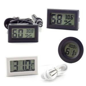 Indoor Thermometer Digital LCD Hygrometer Humidity Temperature Meter animal Tank