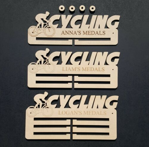 Cycling Medal Holder 5mm Premium MDF Thickest on  Display Hanger FREE Post!