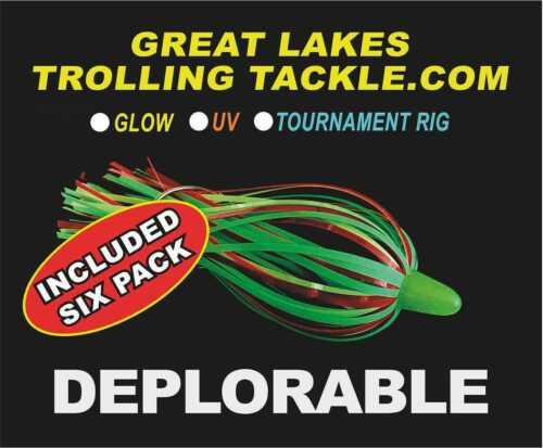Details about  /Great Lakes Trolling Tackle  WEST SHORE SIX PACK   Best value on ALL 6   Glow UV