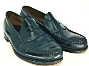 Bass-Weejuns-Levin-Penny-Loafer-Men-039-s-Size-10-D-Black-Leather-Slip-On-Dress-Shoe