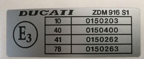 DUCATI 916 LEFT FRAME RESTORATION DECAL
