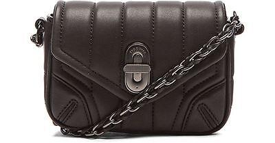 New $395 Rag & Bone Daria Quilted Mini Crossbody Bag in Black Leather