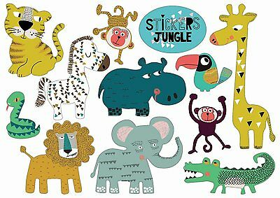 *Zauberhafte*Sticker&Postkarte*Dschungel-Tiere*10 x15cm