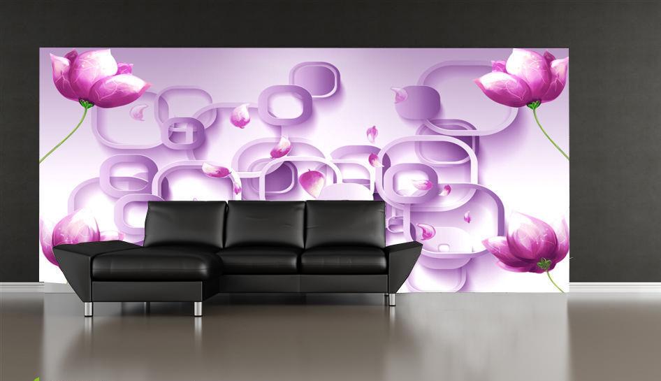 3D Lila Blaumen Serie 83 Tapete Wandgemälde Tapete Tapeten Bild Familie DE | Preisreduktion  | Mittel Preis  | Authentisch