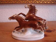 """Porzellanfigur """"Galoppierende Pferde"""", Carl Scheidig Gräfenthal, Kunstporzellan"""