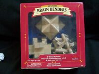 Cardinal Wood Brain Benders 3 Puzzles Item 791 With Free Shipping