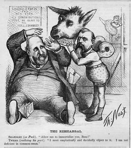 Details About Boss Tweed Donkey Statue For New York Send Contributions To Shandley Thomas Nast