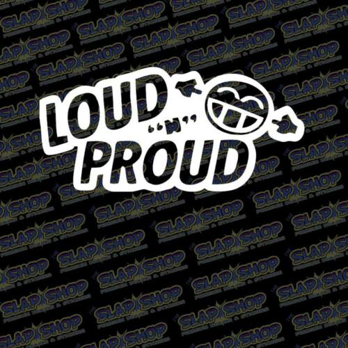 """Loud And Proud JDM Stance Lowered Decal Sticker Car Truck Gear 6/"""" Free Shipping"""