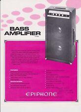 VINTAGE AD SHEET #2197 -  1972  EPIPHONE BASS AMPLIFIER E-30B