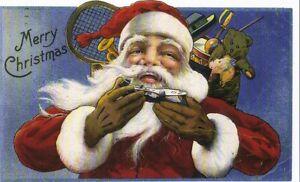 Amerikanische Weihnachtskarten.Details Zu Grußkarte Reprint Weihnachtsmann Mit Geschenken Amerikanische Weihnachtskarte