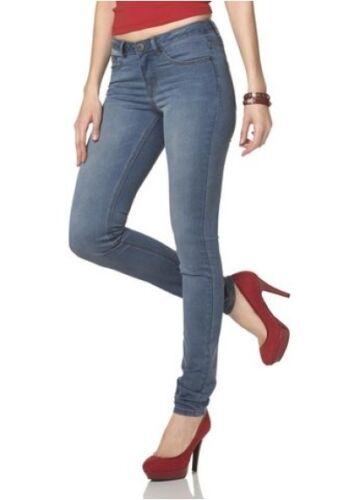 76-80 Nuovo Donna Slim Fit Pantaloni Stretch Blue used l34 Arizona Jeans Skinny Lungo-TG