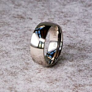 New-Titanium-Mens-Ladies-Unisex-Wedding-Engagement-Band-Ring-034-I-Love-You-034-8mm