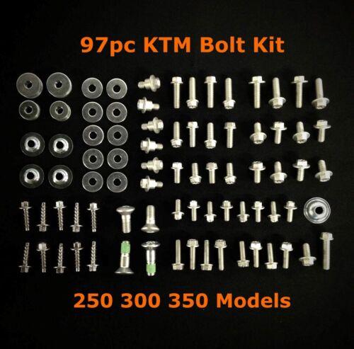 97pc FULL PLASTICS BOLT KIT KTM SX XC MXC EXC SUBFRAME 250 300 350