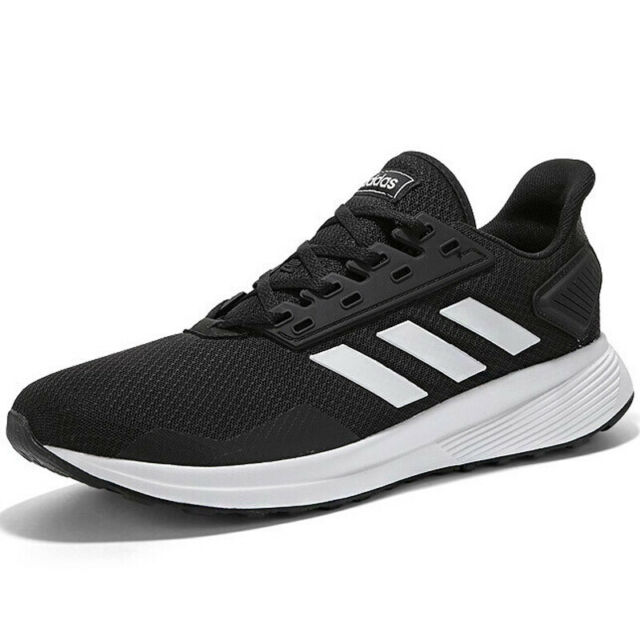 new arrival 244f2 2308c ADIDAS DURAMO 9 Running MENS Black White BB7066 NEW