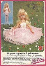 X1960 Barbie - Skipper reginetta di primavera - Pubblicità del 1988 - Vintage ad