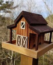 Small Old Red Barn Bird Feeder Solid Cedar Wood Handcrafted in USA