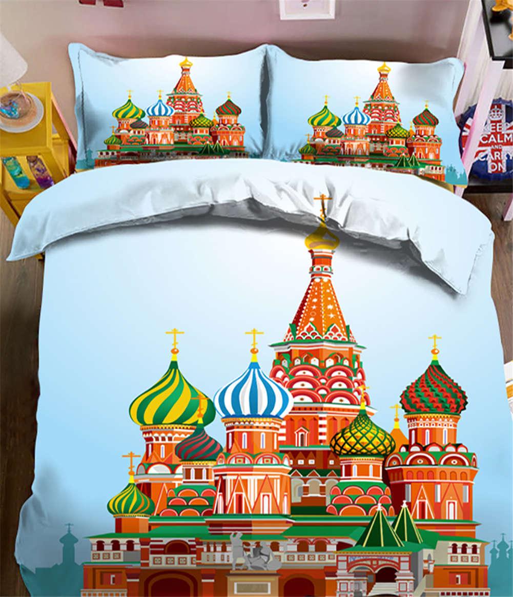 Fantastic Castle 3D Printing Duvet Quilt Doona Covers Pillow Case Bedding Sets