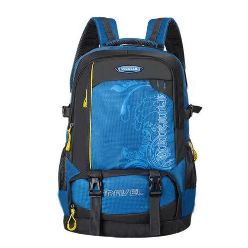 UK 55L Waterproof Travel Rucksack Outdoor Backpack Hiking Camping Luggage Bag
