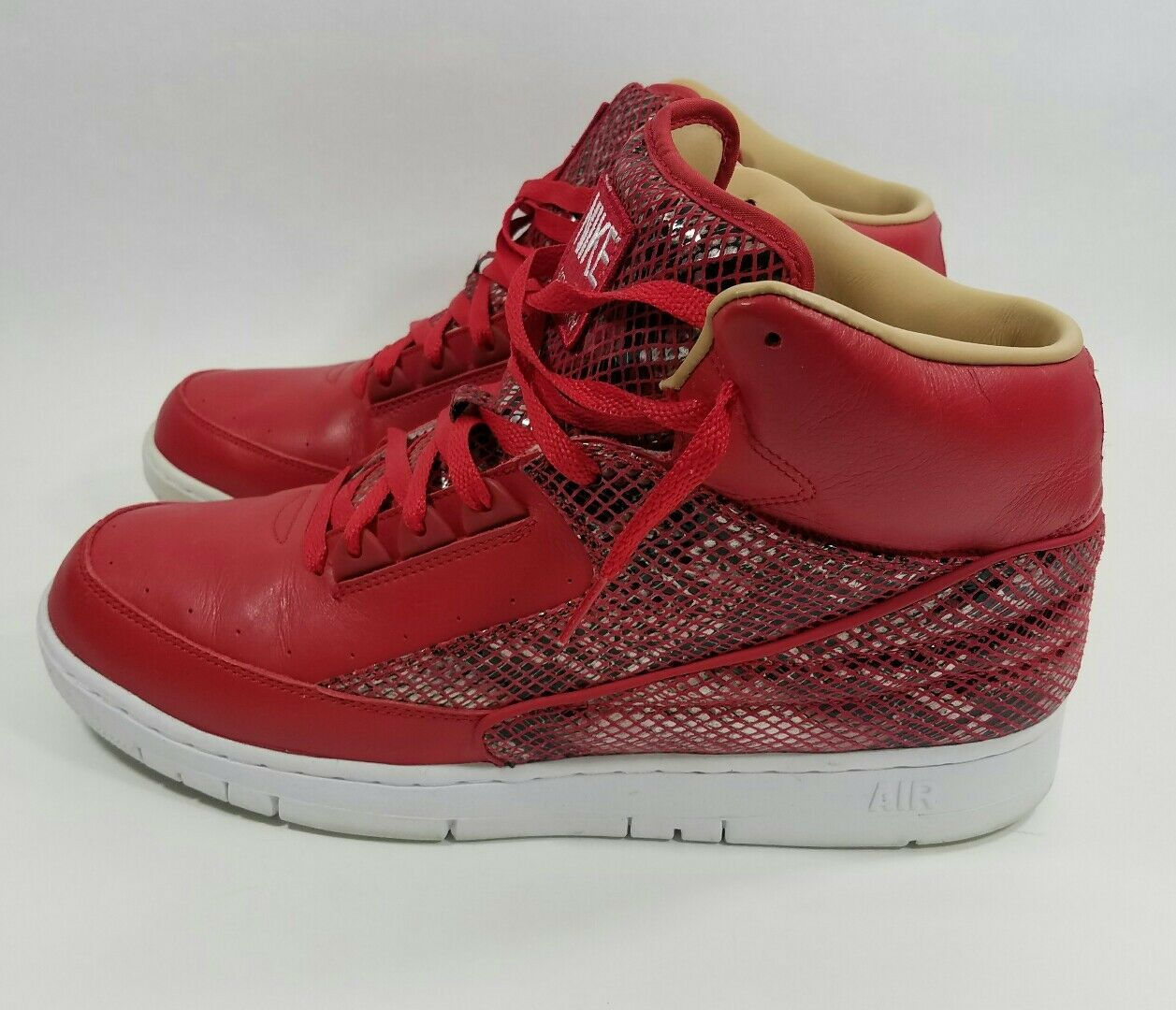 b50ab6d55dd9 ... Nike Air Python Retro SP Lux Leather Leather Leather University Red  White 632631-601 snake ...