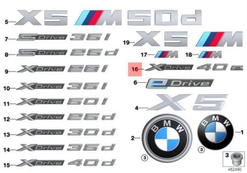 Genuine BMW F15 Front Door X Drive 40e Emblem Badge Logo Sign OEM 51147358545