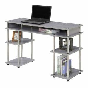 Convenience Concepts Designs2Go No Tools Student Desk in Gray