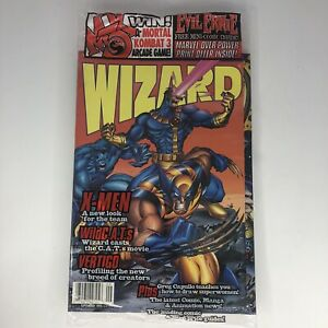VINTAGE WIZARD COMIC GUIDE #49 September 1995 X-Men SEALED W/ CARDS NEW