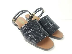 MADE-in-JAPAN-COCORO-Black-Block-Heel-Slide-Mule-Women-039-s-Size-LL-23-5-EEE-7-5-CM