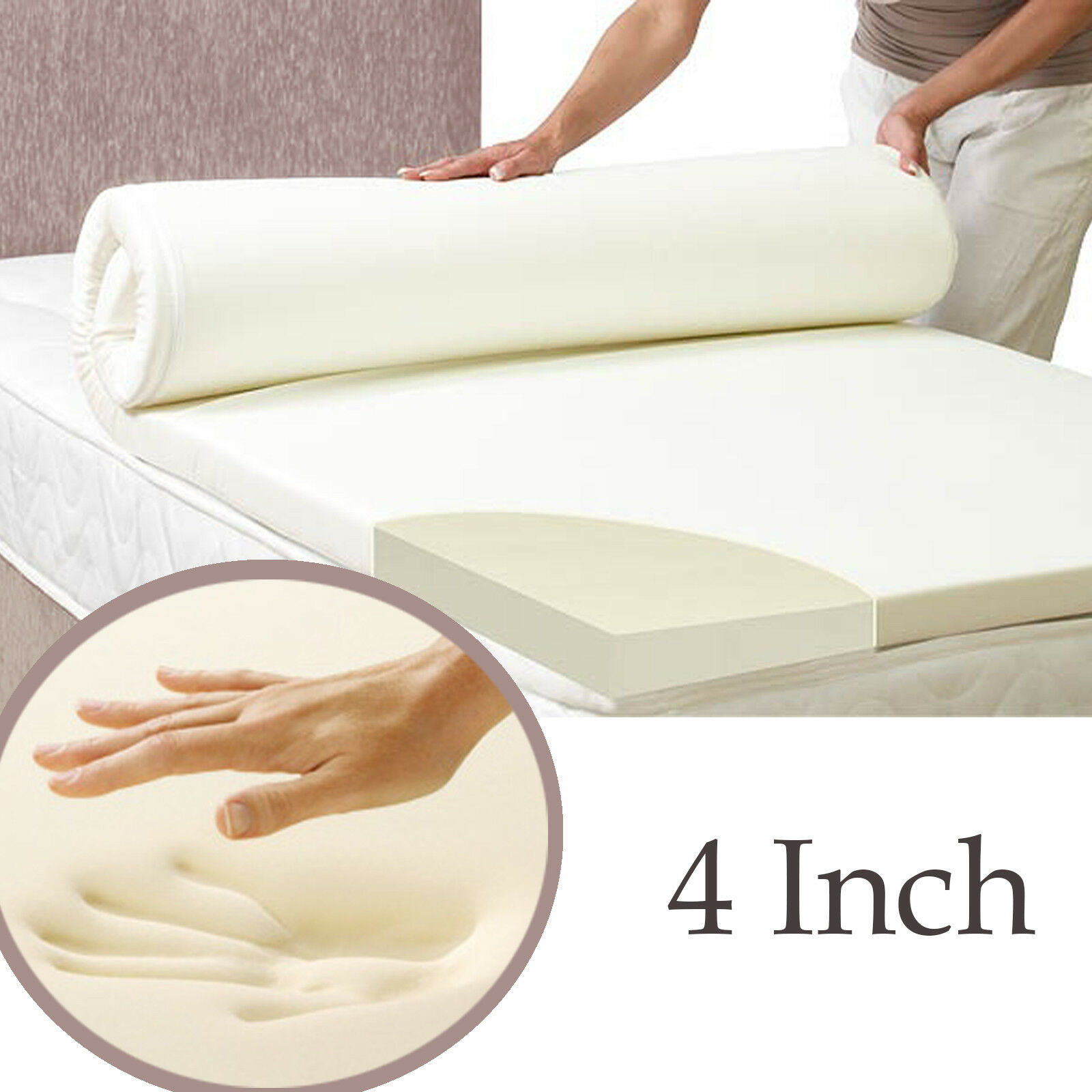 6FT SUPER KINGGröße MEMORY FOAM FOAM FOAM TOPPER WITH COOLTOUCH COVER CHOICE OF DEPTH a2e82d