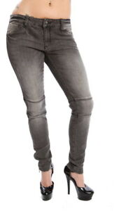 Lip-Service-Ladies-Skinny-Jeans-Gray-Vintage-Wash-Low-Rise