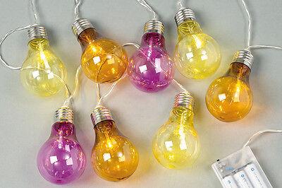 Partybeleuchtung Lichterkette Glühbirnen LED bunt 387310