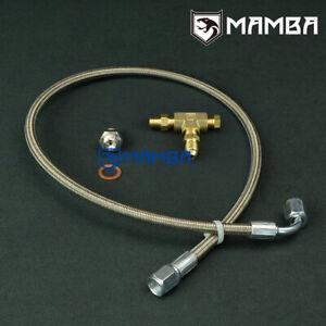 MAMBA-Turbo-Oil-Feed-line-Kit-M10x1-25mm-TD04-TD05-TD06-4AN-Line-50cm