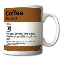 """COFFEE - Stimulant"" Funny prescription style MUG 11oz or 15oz PERSONALISED mugs"