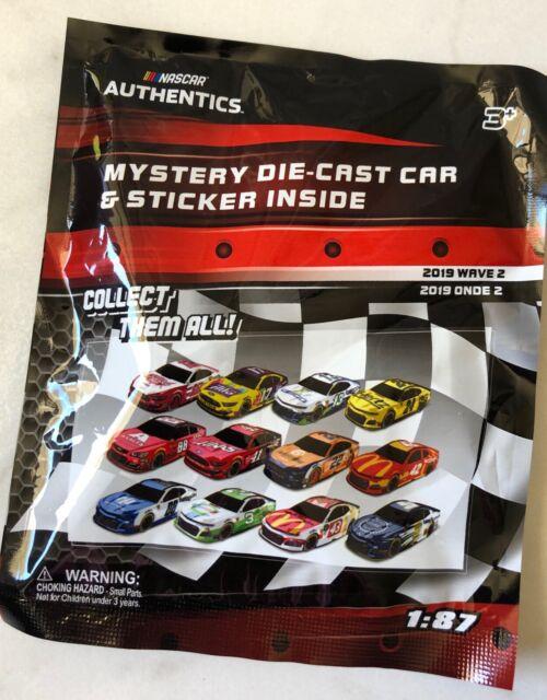 2019 Nascar Authentics 1/87 Mystery Die-Cast Car With Sticker Wave 2