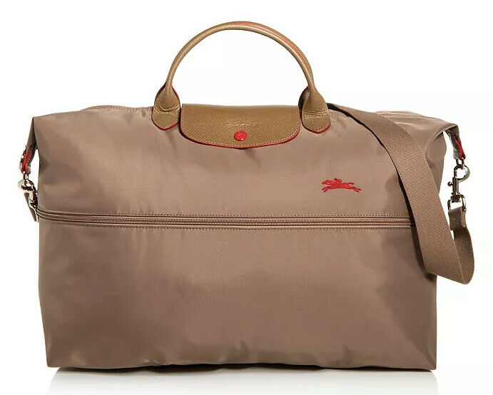 Longchamp Expandable Le Pliage Club Nylon Travel Bag Duffel Tote Cobalt